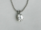 CZ Diamond Rectangle Pendant Necklace $19.95