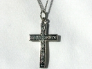 Floral Cross Pendant Necklace $7.95