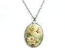 Hand Painted Floral Pendant Necklace $19.95