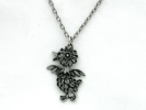 Pewter Duckling Pendant Necklace $19.95