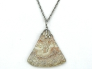 Polished Agate Pendant Necklace $14.95