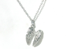 Sterling Silver Angel Wing Pendant Necklace $19.95