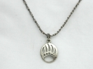 Sterling Silver Bear Paw Pendant Necklace $19.95