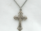 Sterling Silver Filigree Cross Pendant Necklace $19.95