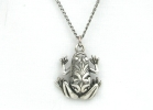 Sterling Silver Frog Pendant Necklace $14.95