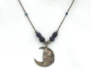 Sterling Silver Lady in the Moon Pendant Necklace $7.95