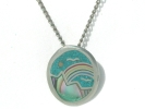 Sterling Silver Rainbow Pendant Necklace $19.95