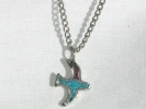 Turquoise Bird Pendant Necklace $9.95