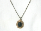 Vintage Faux Onyx Pendant Necklace $7.95