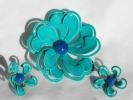 3D Flower Brooch and Clip Earring Set $19.95