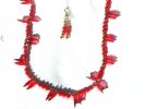 Red Leaf Fashion Necklace and Earring Set $7.95