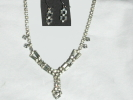 Rhinestone Pendant Necklace and Earring Set $14.95