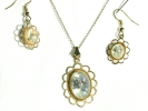 Rocky Mountain Wildflower Pendant and Earrings Set $14.95