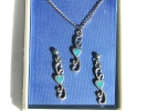 Turquoise Heart Pendant and Earrings Set $9.95