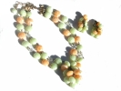Vintage Kramer 2 Strand Necklace and Earring Set $14.95